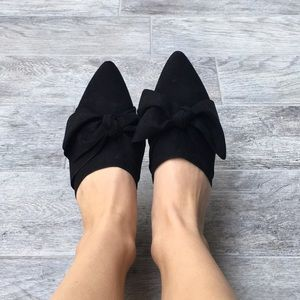 a new day Shoes - Never Worn- Black Bow Slides